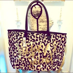 New Victoria's Secret Leppard Tote Bag